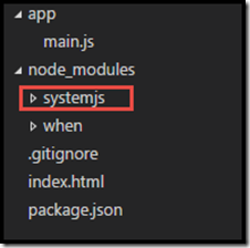 file structure with systemJS