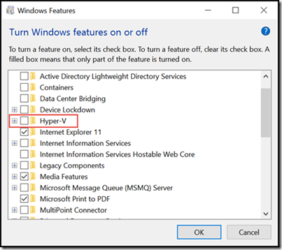 Turn off Hyper-v in Windows