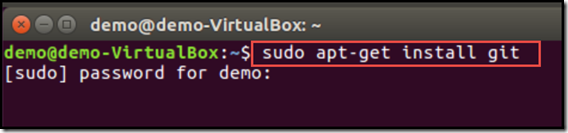 installing git using terminal, sudo, and apt-get on Ubuntu